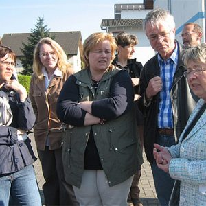 Klaus Katzenberger in Kontakt mit den Anliegern