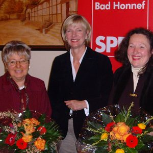 Wally Feiden, Annette Stegger, Renate Hendricks, MdL